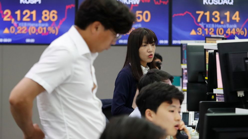 Asian shares mostly lower as investors look to G-20 meeting
