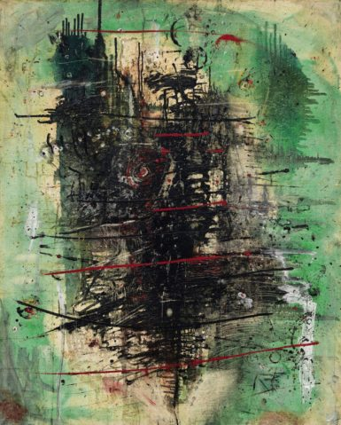 Wols Vert Strié Noir Rouge (Green Stripe Black Red) sold for $5.72 million.