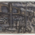 Leon Kossoff, 'King's Cross Stormy Day no. 4,' 2004, charcoal and pastel on paper