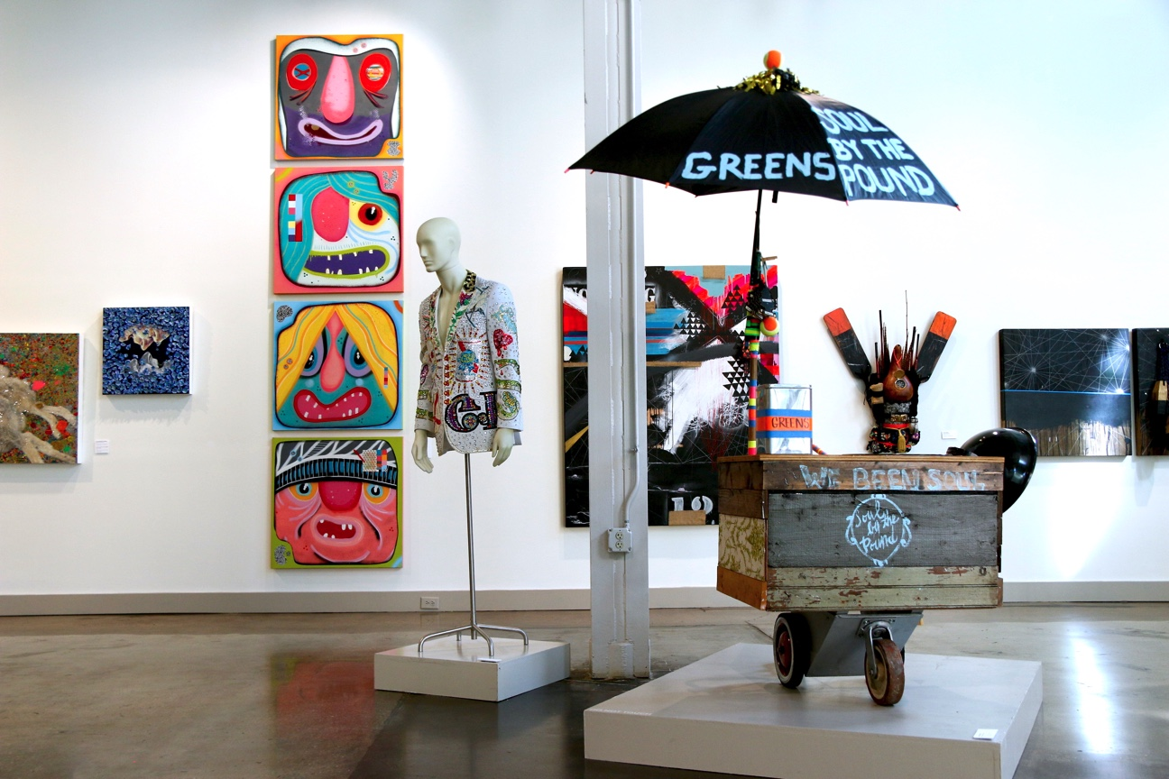 "Installation view of ""Urban Wild: Folk and Street Art in the South,"" 2019, at Alabama Contemporary in Mobile"