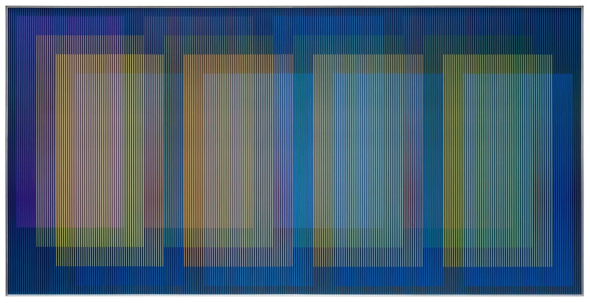 Carlos Cruz-Diez, Physichromie Panam 309, 2018, Chromography on aluminum.