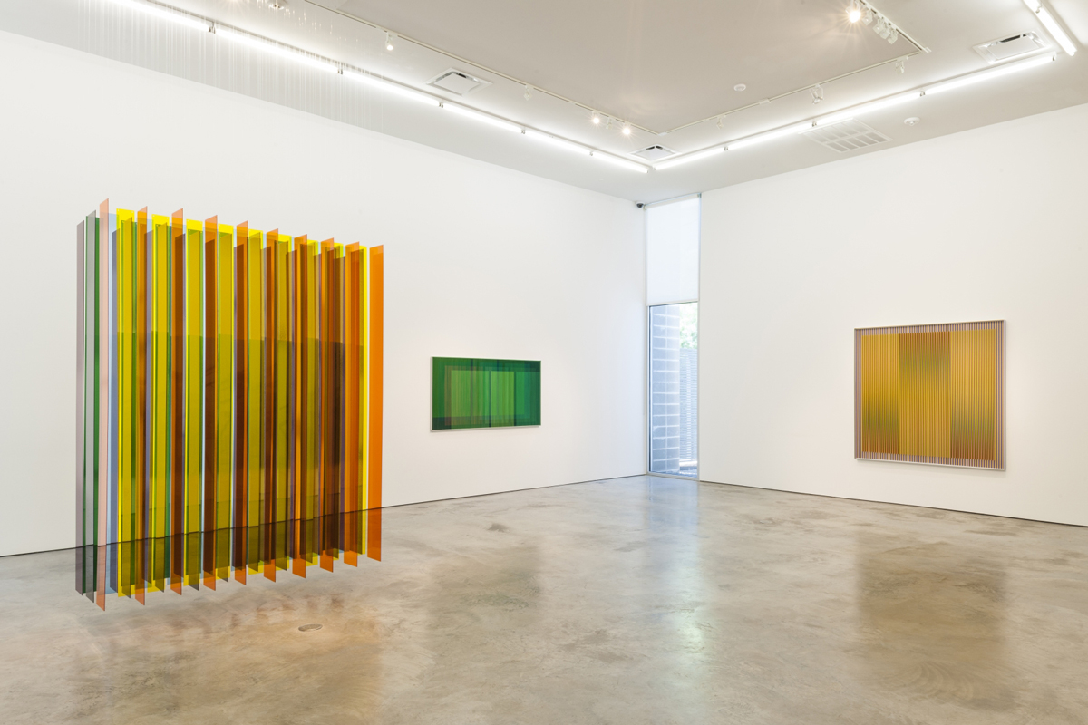 Installation view of Carlos Cruz-Diez, Autonomía del Color, 2017, at Sicardi | Ayers | Bacino, Houston.