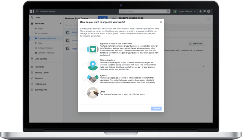 Facebook Business Manager with bulk permissions management rolling out