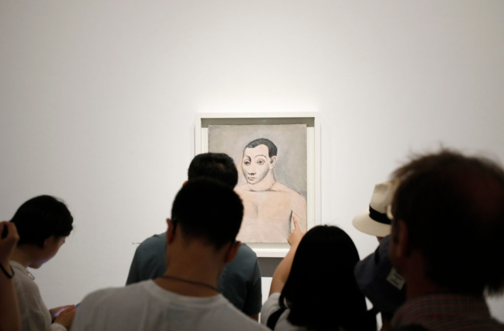 Visitors to the UCCA Contemporary Art Center