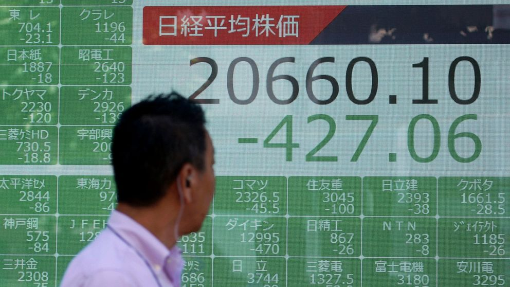 Asian stock tumble for 3rd day after China lets yuan sink