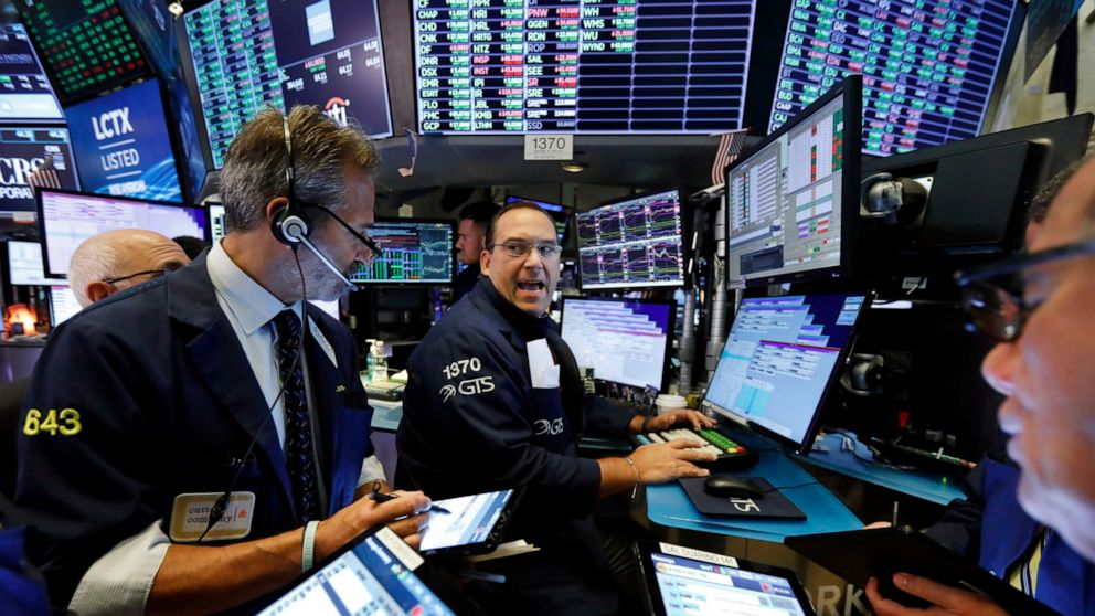 US stocks edge mostly higher as technology companies lag
