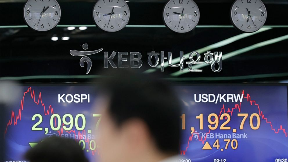 Asian shares fall as Iran, China-US trade tensions loom