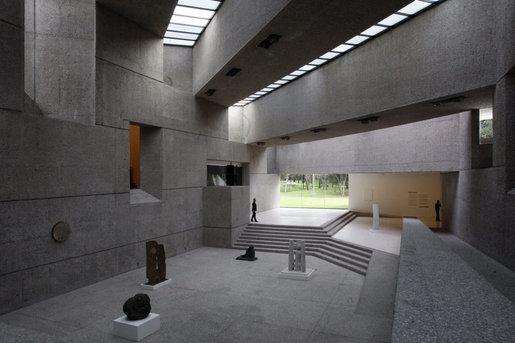 Inside the Rufino Tamayo Modern Art Museum in Mexico City