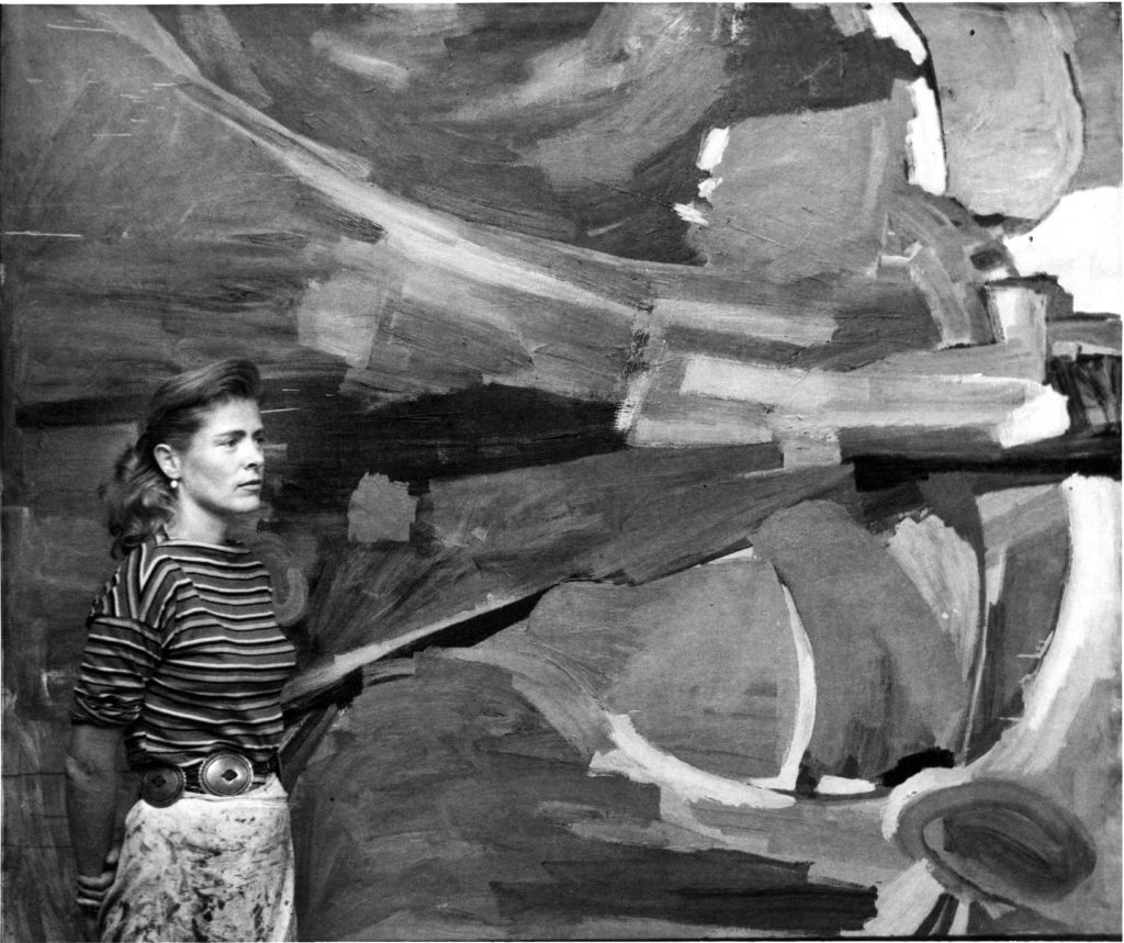 Mary Abbott in her studio, ca. 1950