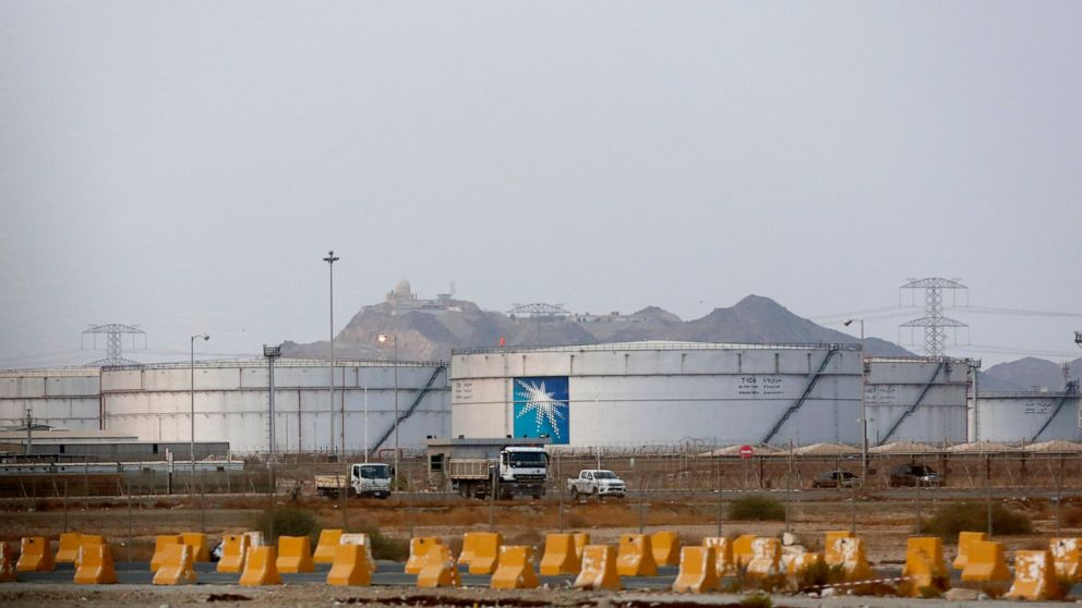 The Latest: Oil prices spike after attack on Saudi facility