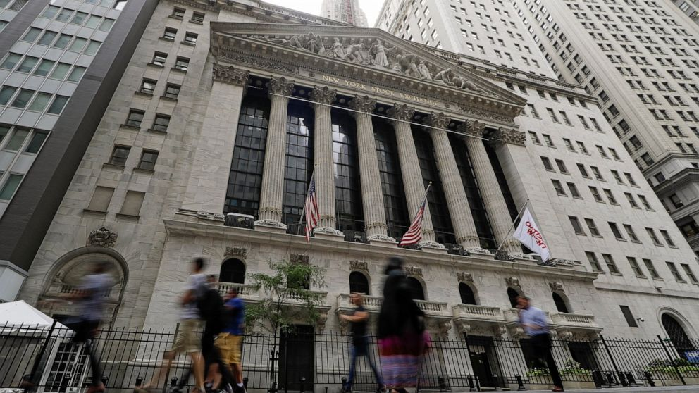 US stocks move broadly lower as new China tariffs kick in