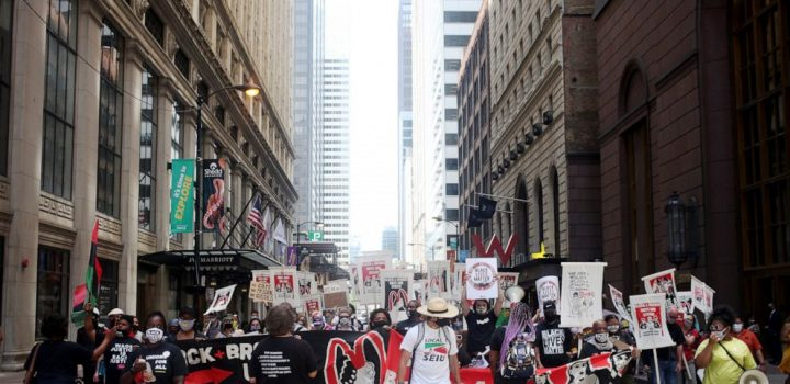 Workers protest racial inequality on day of national strike