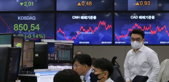 Asian markets follow Wall Street lower on virus anxiety