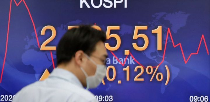 Asian shares decline following lackluster day on Wall Street