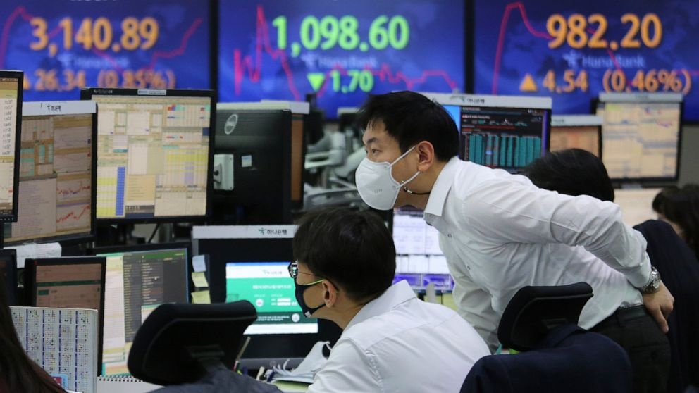 Asian shares mostly up on optimism for stimulus from Biden