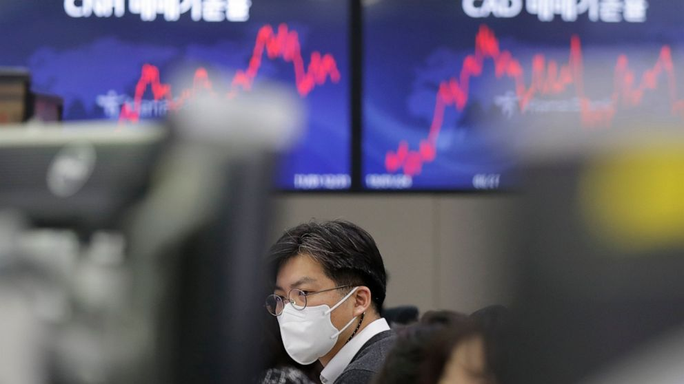 Global stocks fall on virus worries, Wall St volatility
