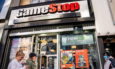 GameStop shares double after tumbling for much of February