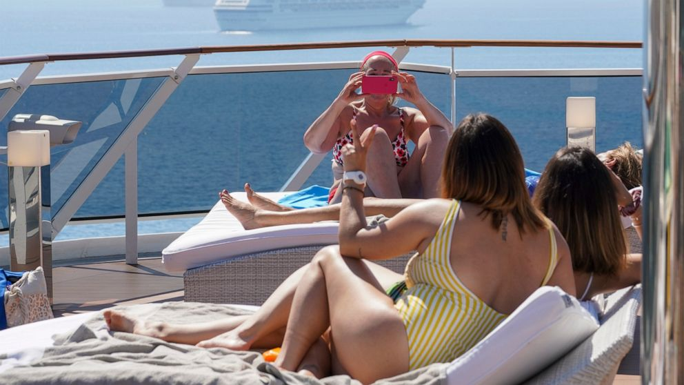 Italy may be in Easter lockdown, but the party's on at sea