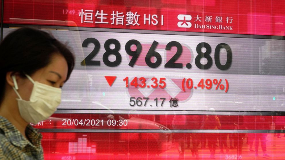 Many global stocks lower after Wall St. decline