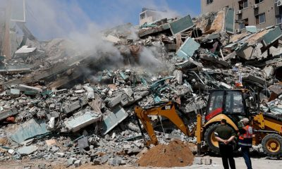 The Latest: Israeli jets stage heavy airstrikes in Gaza City