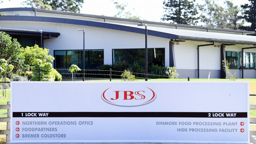 Meat producer JBS says expects most plants working Wednesday