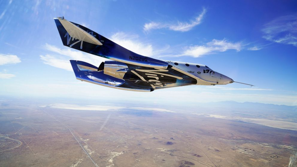 Billionaire Richard Branson heads for space in his own ship