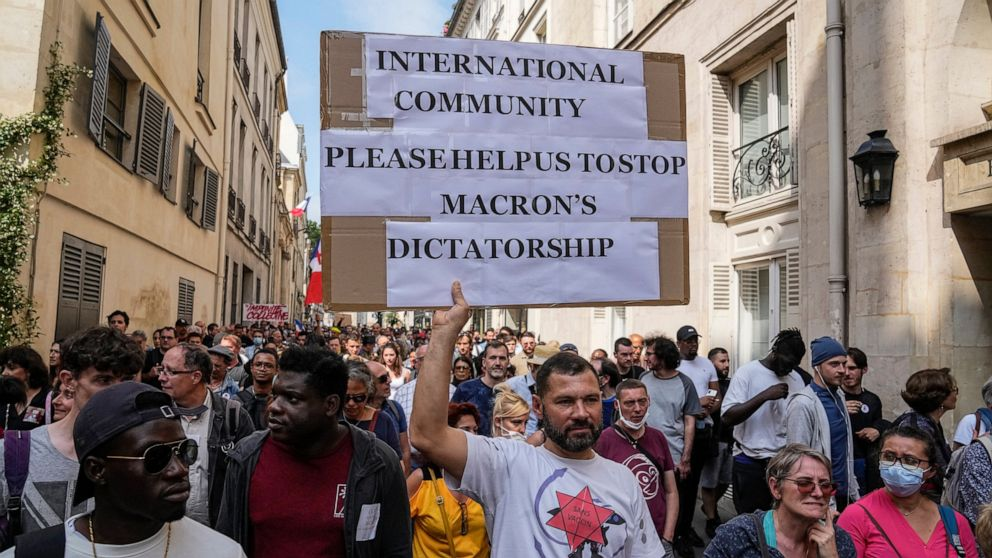 France: Thousands protest against vaccination, COVID passes