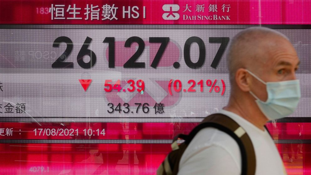 Asian markets lower amid China, Afghanistan unease