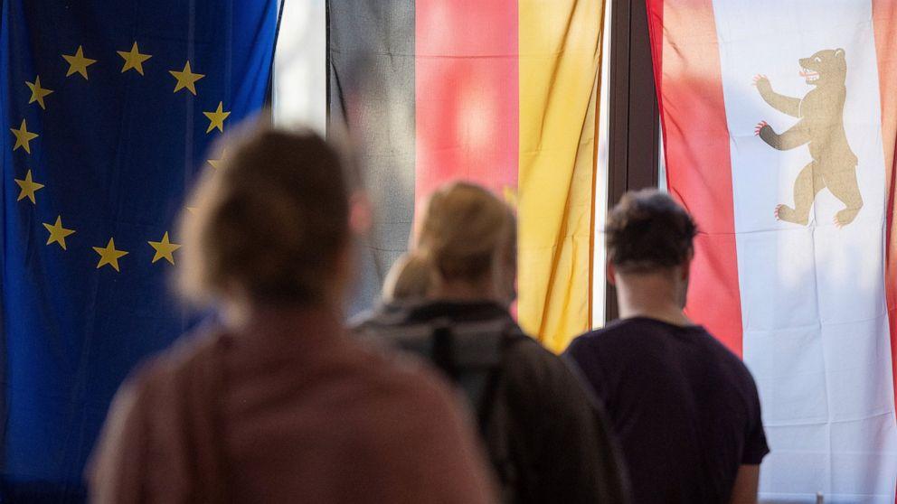 The Latest: Merkel's old constituency goes to rival party